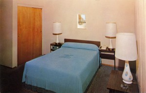 A room at the Linoaks Motel, Alameda, California