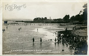A view of Alameda's Fine Beaches, Alameda, California, mailed 1912