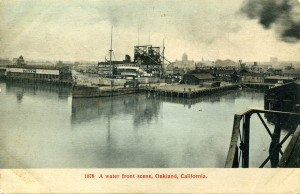 A water front scene, Oakland, California