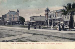 A view of the Plaza and San Lorenzo Avenue, San Leandro, California