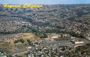 A striking aerial view of Hayward, California