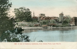A view of Oakland, California, from Adams Point, Lake Merritt