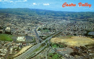 Aerial View of Castro Valley, California