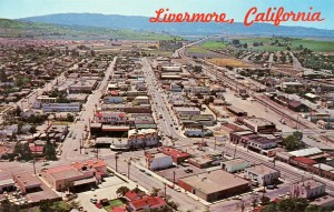 Aerial View of Downtown, Livermore, California