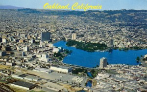 Aerial View of Lake Merritt and Oakland, California