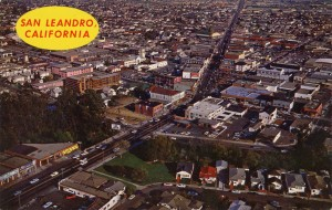 Aerial View of San Leandro, California