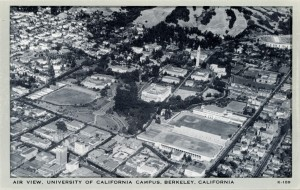 Air View, University of California, Campus, Berkeley, California