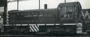 Alameda Belt Line at Alameda Roundhouse, Alameda, California, Dec. 2, 1959