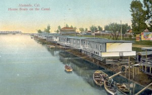 Alameda, Cal., House Boats on the Canal