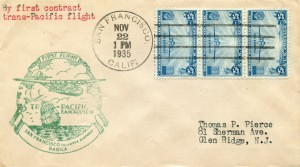 Commemorative Envelope, First Flight Alameda Airport to Manila, November 22, 1935