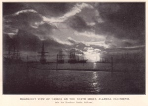 Moonlight View of Harbor of the North Shore, Alameda, California