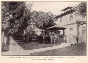 Homes Along Union Street Near San Jose Avenue, Alameda, California