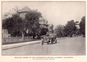 Palatial Homes in the Residential Section, Alameda, California