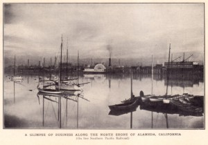 A Glimpse of Business Along the North Shore of Alameda, California