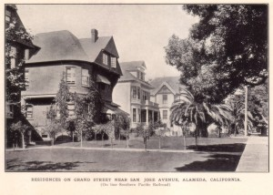 Residences on Grand Street Near San Jose Avenue, Alameda, California