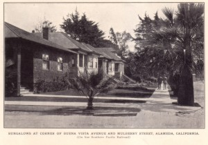 Bungalows at Corner of Buena Vista and Mulberry Street, Alameda, California