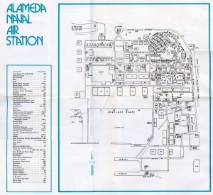 Unofficial Map of Alameda Naval Air Station, Alameda, California