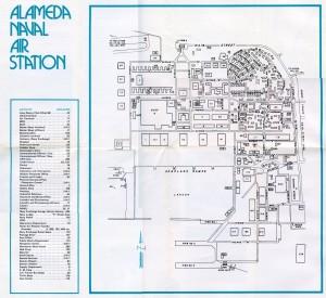 Unofficial Map of Alameda Naval Air Station, Alameda, California