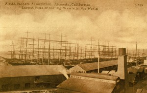 Alaska Packers Association, Alameda, California. Largest Fleet of Sailing Vessels in the World.