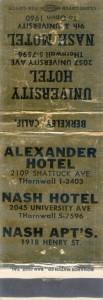 Alexander Hotel, 2109 Shattuck Ave., Berkeley, Calif.