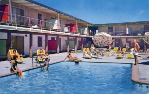 Aloha Motel, Pool Area, 250 W. Jackson St., Hayward, California
