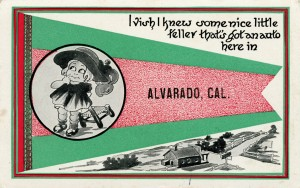 Alvarado, California, old postcard mailed 1913