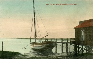 At low tide, Alameda, California, mailed 1911