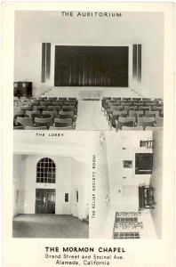 Auditorium, and Lobby and Relief Society Room, Mormon Chapel, Alameda, California