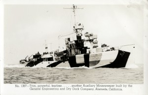 Auxillary Minesweeper built at General Engineering and Dry Dock, Alameda, California