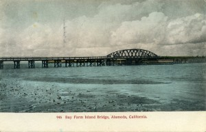 Bay Farm Island Bridge, Alameda, California, mailed 1912