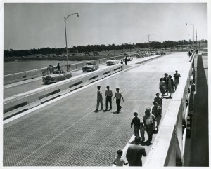 Bay Farm Island Bridge, First Crossing, Alameda, California, July 01, 1953