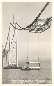Lifting Section of Bay Bridge Roadbed