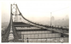 San Francisco - Oakland Bay Bridge View of Roadbed