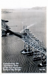Constructing the Cantilever Span, Bay Bridge