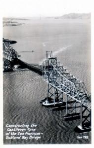 Constructing the Cantilever Span, Bay Bridge