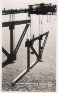 Raising Unit of Steel to Bay Bridge Cable