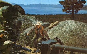 Ben Cartwright and Camera, Lake Tahoe in Background, Ponderosa Ranch, Incline Village, Nevada