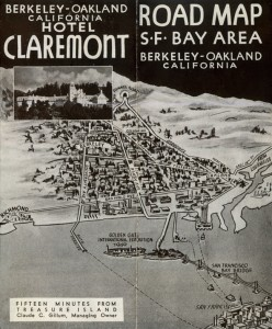 Claremont Hotel and S.F. Bay Areaa  Road Map