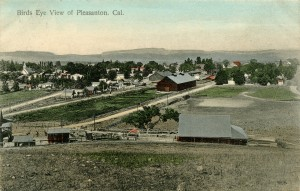Birds Eye View of Pleasanton, California