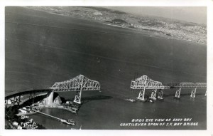 Birds' Eye View, Cantilever Span,S.F. Bay Bridge