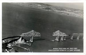Birds' Eye View, Cantilever Span,S.F. Bay Bridge
