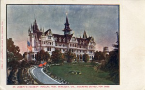 Boarding School for Boys, St. Joseph's Academy, Peralta Park, Berkeley, California