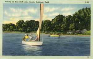 Boating on Beautiful Lake Merritt, Oakland, Calif.