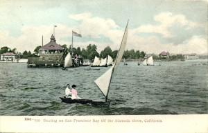 Boating on San Francisco Bay off the Alameda shore, California