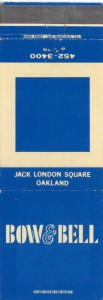 Bow_and_Bell Jack London Square Oakland California matchbook