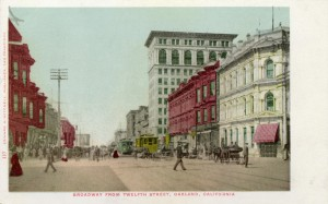 Broadway from Twelth Street, Oakland, California