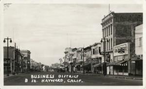 Business District, B St., Hayward, Calif.