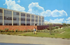 California State College at Hayward, Fine Arts Building, Hayward, Califonria, mailed 1974