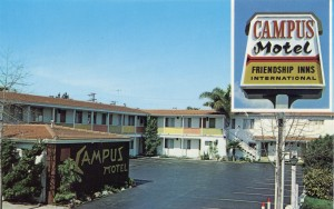 Campus Motel, 1619 University Avenue, Berkeley, California, mailed 1985