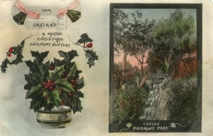 Canyon, Piedmont Park, Oakland, California, mailed 1912